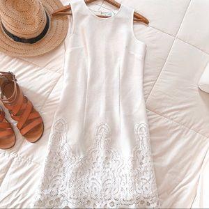 Anthropologie White Lace Sheath Dress